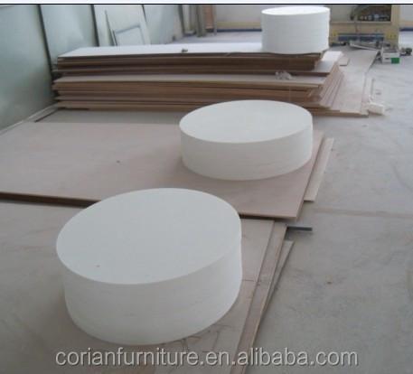 Bajo precio de china de superficie s lida corian de comedor de mesa de caf mesa encimeras y - Precio del corian ...