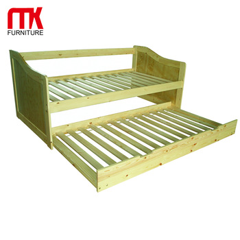 Wooden Sofa Bed With Pull Out Bedplate