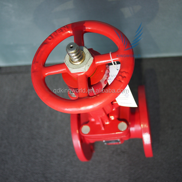 ASTM Ductile Iron Rising Stem Flange Type Gate Valve Export