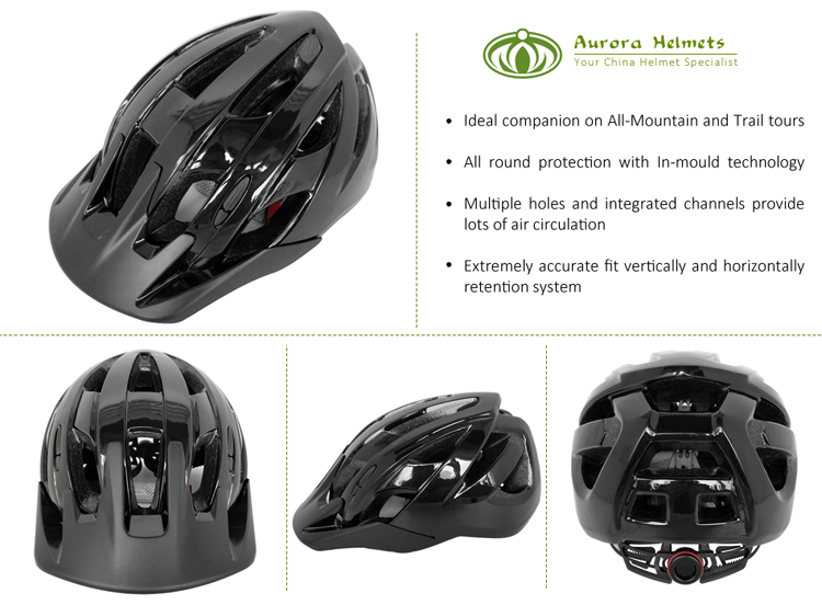 2018 Factory Direct Professional Mountain Bike Helmet With Peak 5