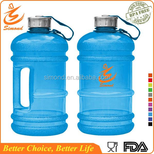 2.2L plastic water bottle for whey protein mixing