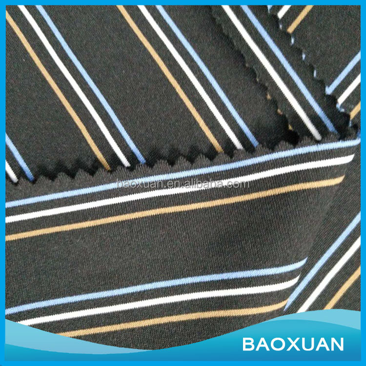 Chinese supplier hot sale 100% Polyester Yarn dyed 4 way stretch fabric For Garments , Blanket And Clothing