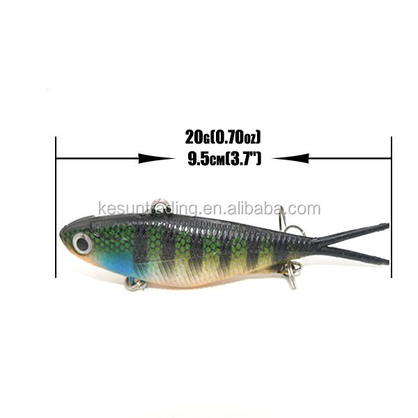 95mm 20g new vibe Soft Plastics Fishing Vibe Lure Blade soft vibe lures