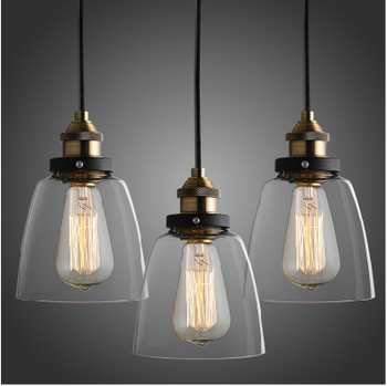 Nordic simple style loft glass drop bell pendant lighting with brass holder & Nordic Simple Style Loft Glass Drop Bell Pendant Lighting With ... azcodes.com