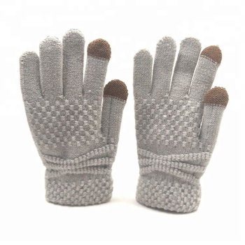 d523d7654 Custom Womens Knitting Winter Gloves Fashion Touch Screen Gloves