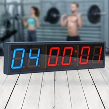 Grote Draagbare 4 Inch 6 Digitale Led Crossfit Interval Training <span class=keywords><strong>Timer</strong></span> Voor Gym