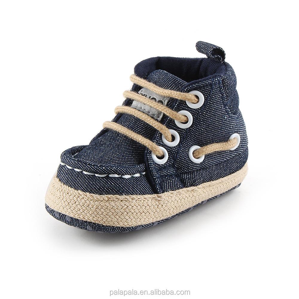 335a9aa10 Nuevo diseño de zapatos de lona zapatos de encaje bebé mocasines Bebe suela  de goma antideslizante