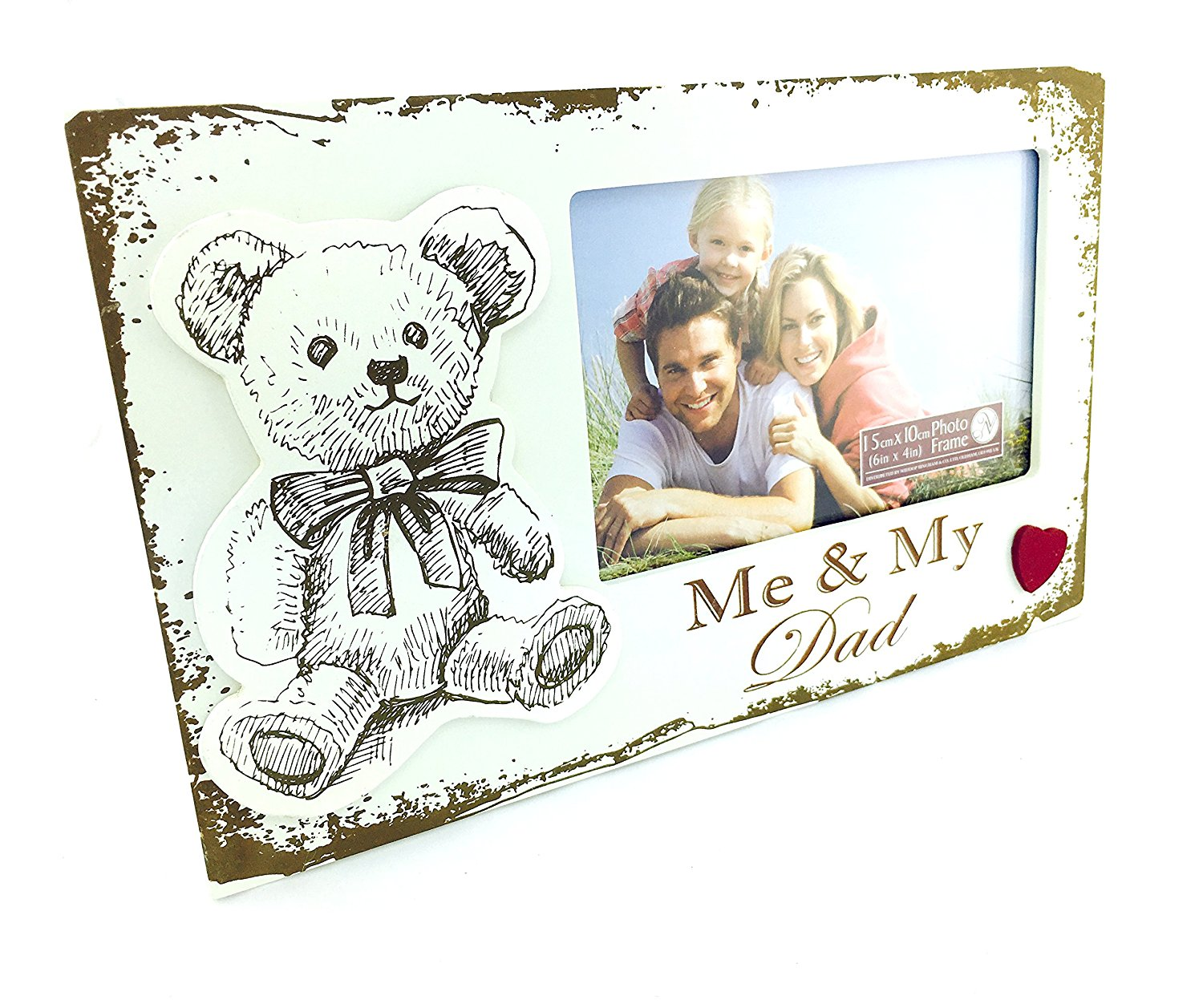 Buy Me and My Dad Vintage Style Wooden Photo Frame Gift New in Cheap ...
