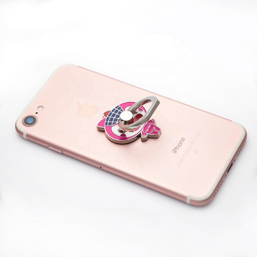 Wholesale factory custom cell phone ring holder for mobile phone,360 rotation phone ring