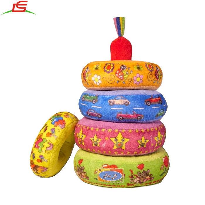 Pretty Soft Stuffed Plush Educational Game Stacking Rings Toys for baby infant toddler kids and young children
