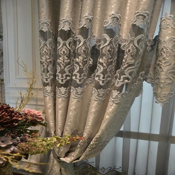 Polyester Jacquard Ready Made Broderie Rideau De Style Pour Dubaï ...