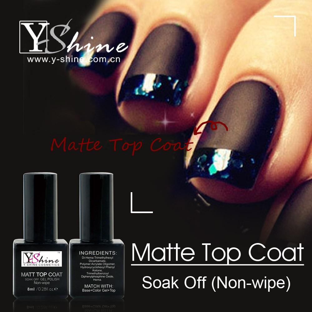 Oem Service Y-shine Free Sample Beauty Nail Matte Top Coat Matte ...