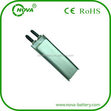 lipo battery 3.7v 250mah mp3 player battery cells 651240