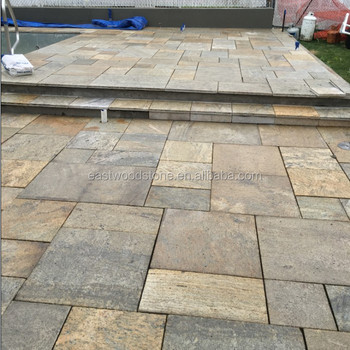 Yellow Color Granite Material Patio Pavers Lowes