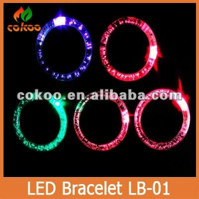 2016 hot new design led bracelet light wrist band glow bracelet light up bracelet well for party wedding concerts new toys