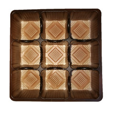 Custom plastic chocolate blister tray decorations packaging and customize PVC/PET/PS insert tray suppliers