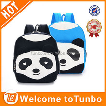 Custom cute panda school bag for kids canvas chinese school bag