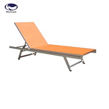 Outdoor Aluminum Antique Portable Folding Beach Chaise Sun Lounge