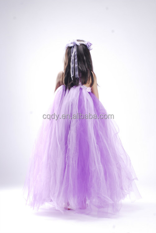 cea0090c7c0 Floral Wedding Tulle Dress for Girls of 10 Year Old Fancy Wedding Dress  Baby Girl Party