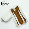 Professional quality stainless steel tweezer set with leather case can be any color