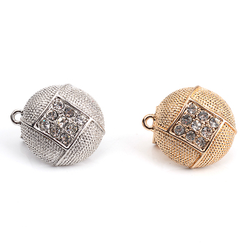 Fashion gold plated diamond alloy earring Accessory Jewelry Making Accessory