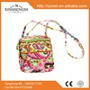100% cotton quilted little girl's crossbody bag with a slip at the back side