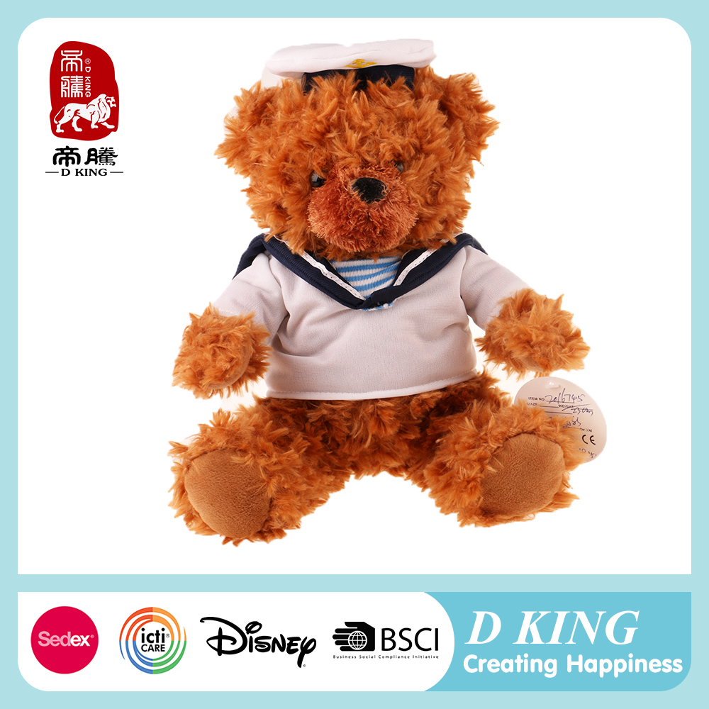 wholesale plush teddy bear images with white clothes Chinese supplier