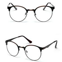 Модные оптические очки, оправа для очков для мужчин и женщин, винтажные очки из прозрачного металла F05(Китай)