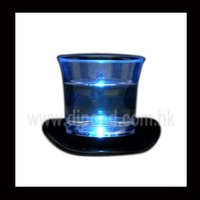 LED flashing glass ,led light up shot glass for party , ligh up glass in cow boy hat design