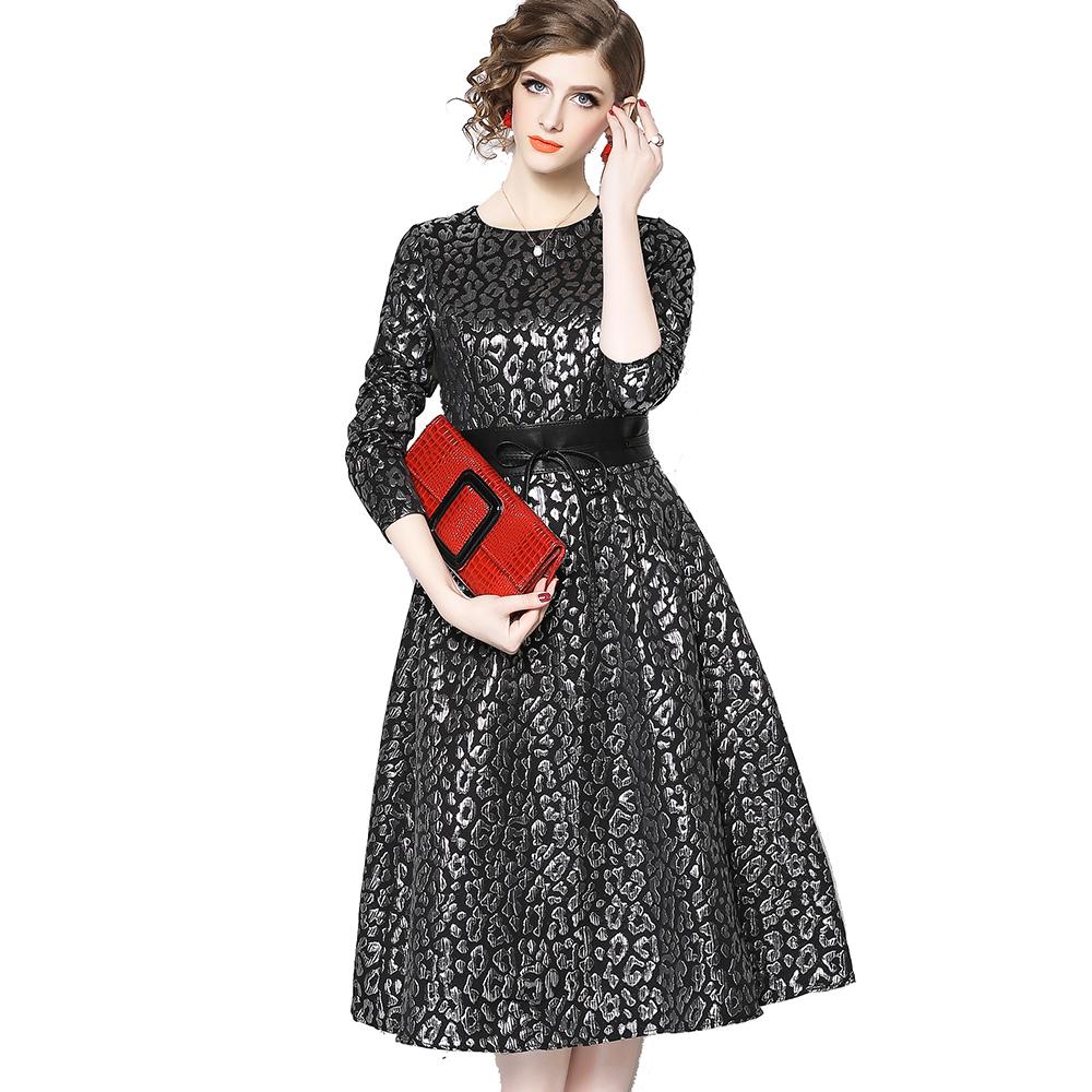 2c1e141902 Venta al por mayor en las mujeres elegantes de moda de manga larga un  vestido de