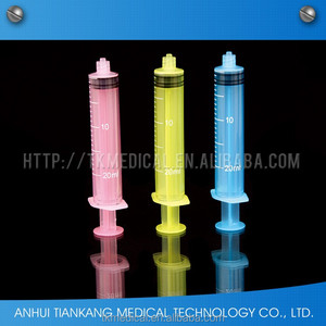 medical single-use colored oral paste syringe