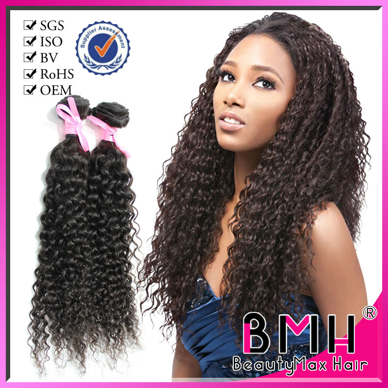 Raw material unprocessed kinky curl brazilian hair