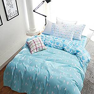 Pudding Blue Bedding Kids Bedding Teen Bedding Dorm Bedding Gift Idea, Full Size