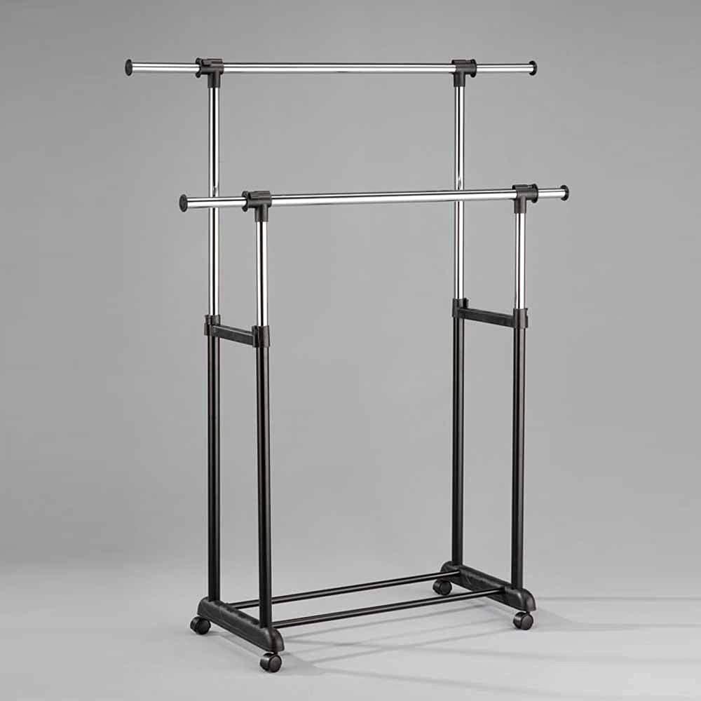 1PerfectChoice Lera Collection Home Organizer Metal Iron Clothing Garment Coat Rack in Black