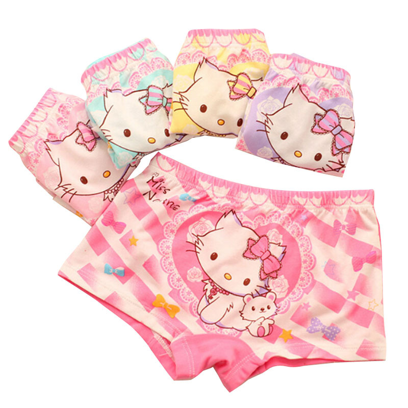 Baby children panties for girls underwear modal & cotton girls briefs cartoon kitty child outfits kids calcinha 6pcs/lot 2-12 Y