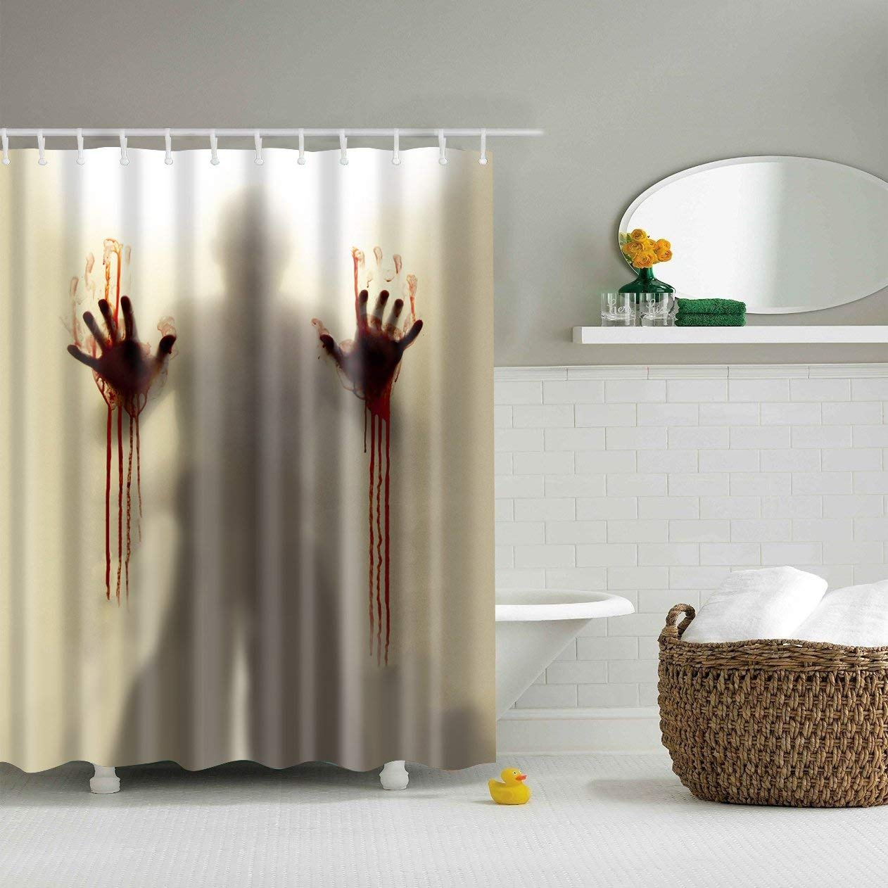 Buy Funny Novelty Bath Curtain Mysterious Scary And Funny