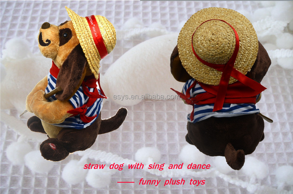 stuffed animal dolls realistic plush toy dogs with dancing and music