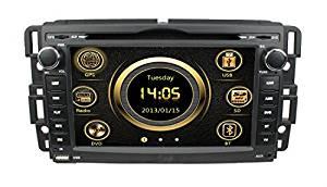 lsqSTAR 7 Inch In dash Car Srereo FM/AM Radio Stereo Touch Screen DVD Player GPS Navigation System for Buick 2008-09 Enclave & 2008-09 Lucerne/GMC 2007-10 Yukon Denali & Acadia(2007-11) & 2008-10 Sierra/Chevy 2007-10 Silverado & 2007-10 Tahoe & 2007-10 Suburban & 2007-10 Avalanche & 2006-09 Impala