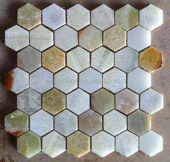 Shiny Hexagon Onxy Shower Floor Mesh
