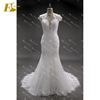 New Real Sample See Through Back Lace Mermaid Wedding Dress Patterns