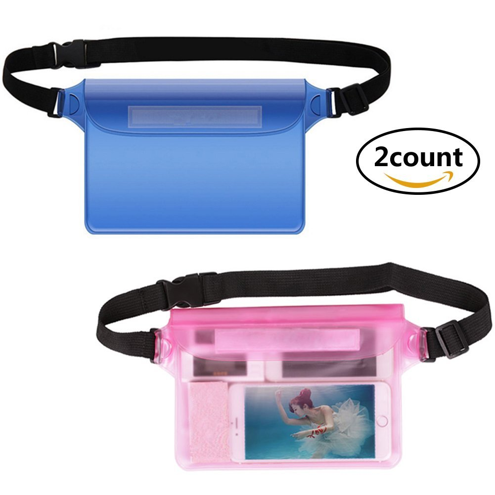 Get Quotations Waterproof Case For Phone 2 Pack With Waist Strap Pouch Keep Your Wallet License
