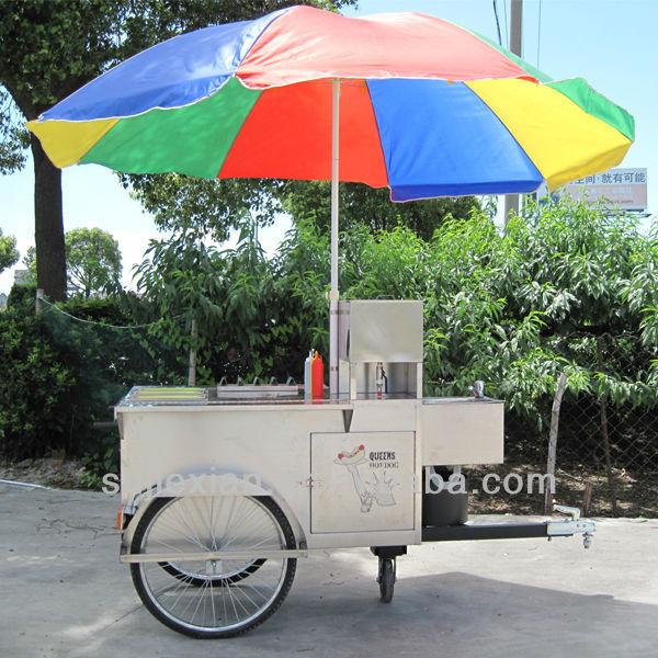 JX-HS120B New Style mobile cake sale crepe maker chips cart pancake hot dog cart
