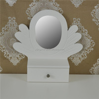 french fresh fashion natural Wood desktop mirror