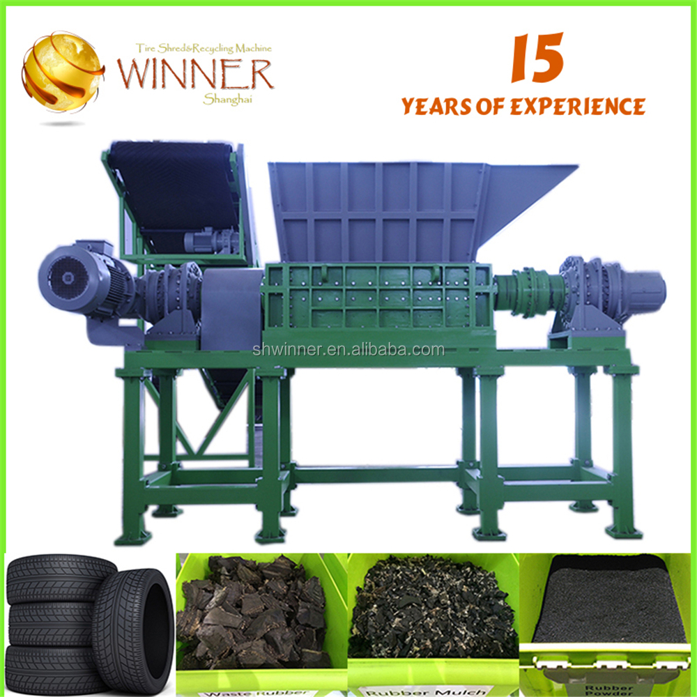 Fast supplier all shaped rubber and tire cutting and recycling machine