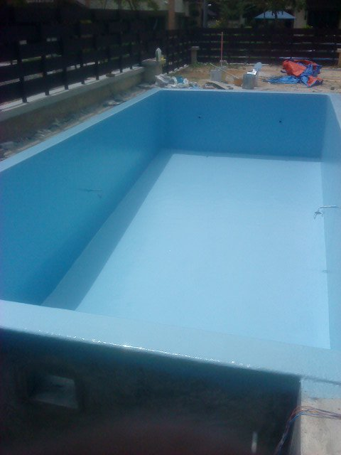 swimming pool laminating