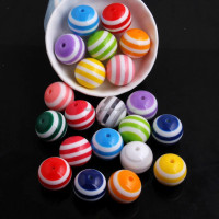 Mix Colorful Color Wholesales Round Resin Strip Beads Beads for Jewelry Making 6mm 8mm 10mm 12mm 14mm 16mm 20mm