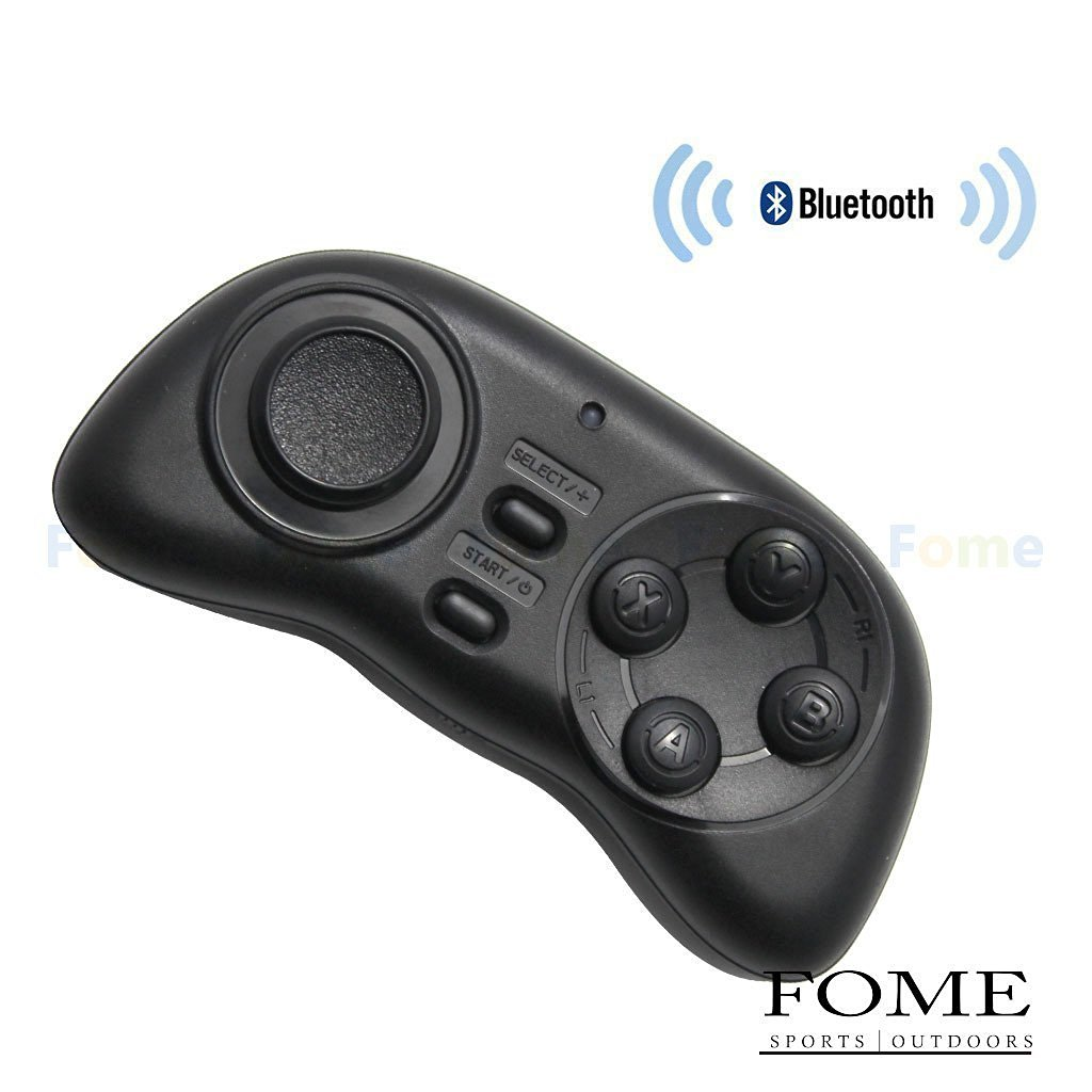 Wireless Bluetooth Remote Controller, FOME SPORTS|OUTDOORS Gamepad Style Wireless Bluetooth Remote Controller Compatible with 3D VR Glasses Google Cardboard Selfie Camera Shutter Wireless Mouse Music Player iPhone iPad Ebook Tablet PC TV One Year Warranty