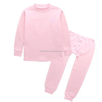 factory made in china kids sleeping wear/custom solid color child high collar render garment