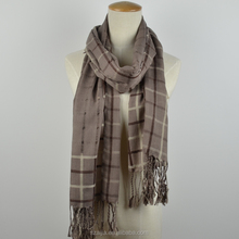 Men winter checked scarf plaid shawl