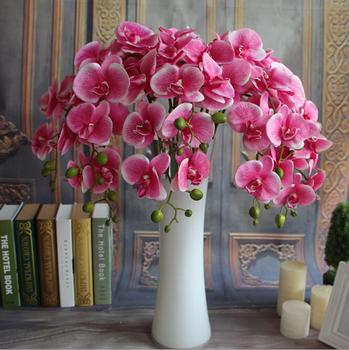 Gnw Purple Artificial Latex Flowers Orchids Wholesale Silk Flowers